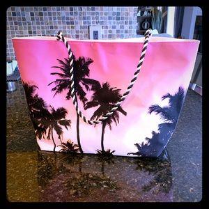 Avon palm tree pink and black bag